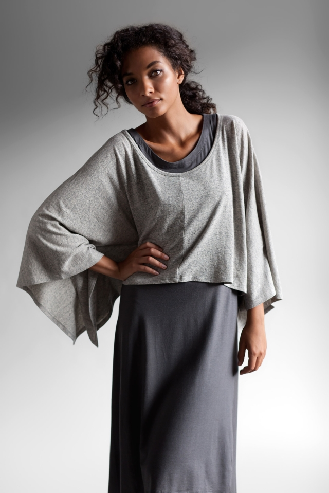 Linen-and-recylced-cotton-poncho-and-Tencel-dress