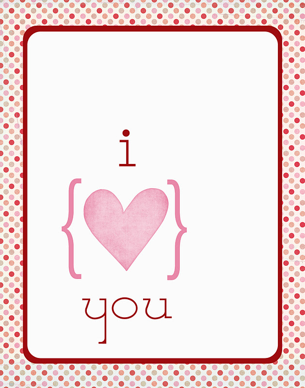 valentines poster i love you