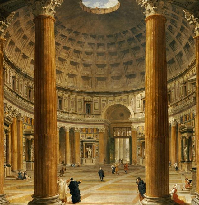 the-interior-of-the-pantheon-giovanni-paolo-panini